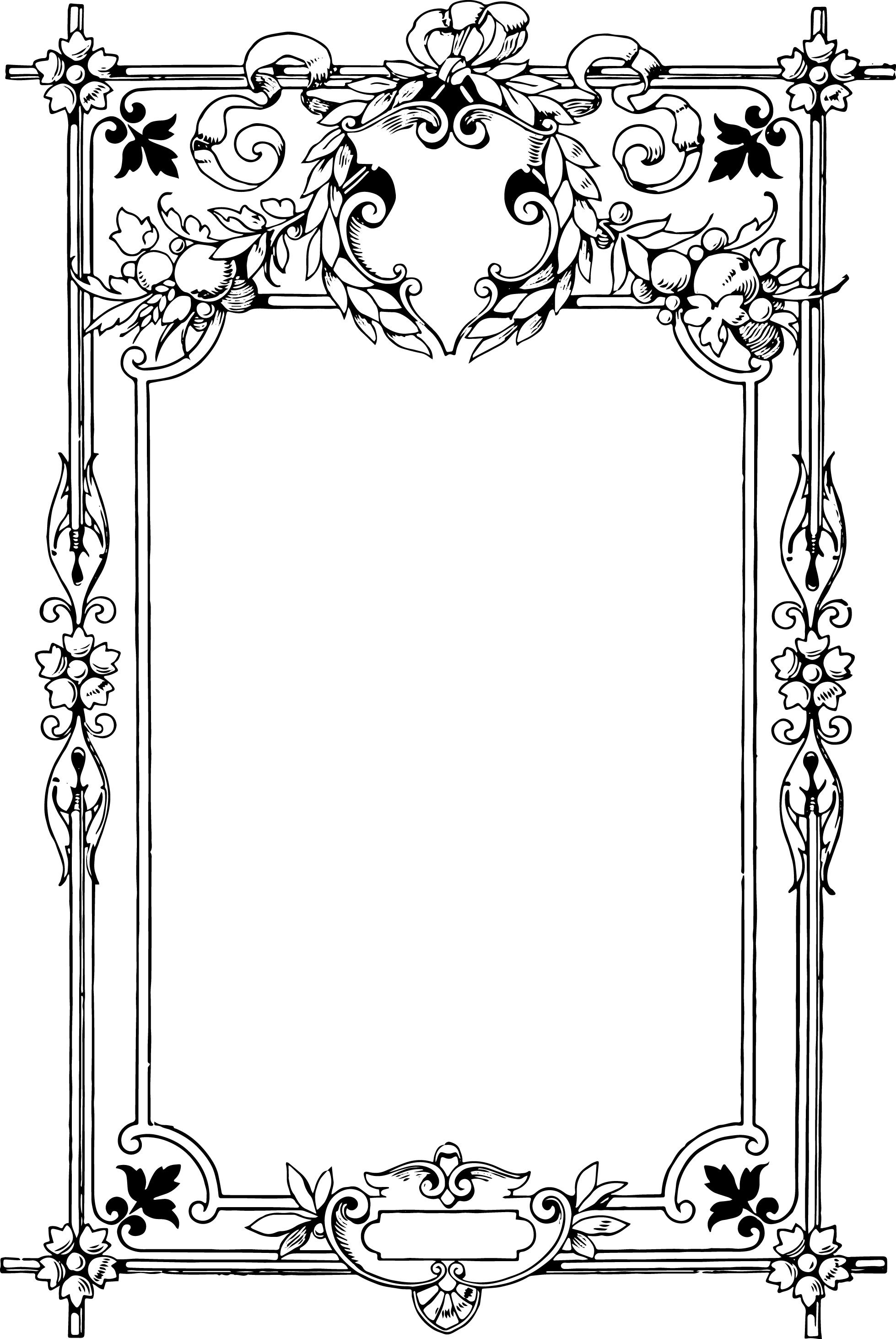 White vintage frame clipart jpg transparent library vintage graphics and printables | Black and White Clip Art ... jpg transparent library