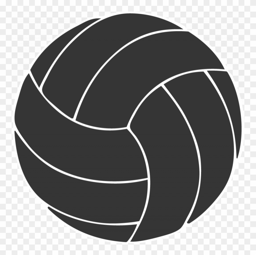 White volleyball black background clipart png library download Free Volleyball Clipart Black And White - Volleyball Clipart ... png library download