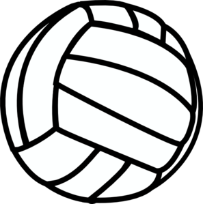Volleyball images free clipart clipart black and white download Volleyball Clip Art at Clker.com - vector clip art online ... clipart black and white download