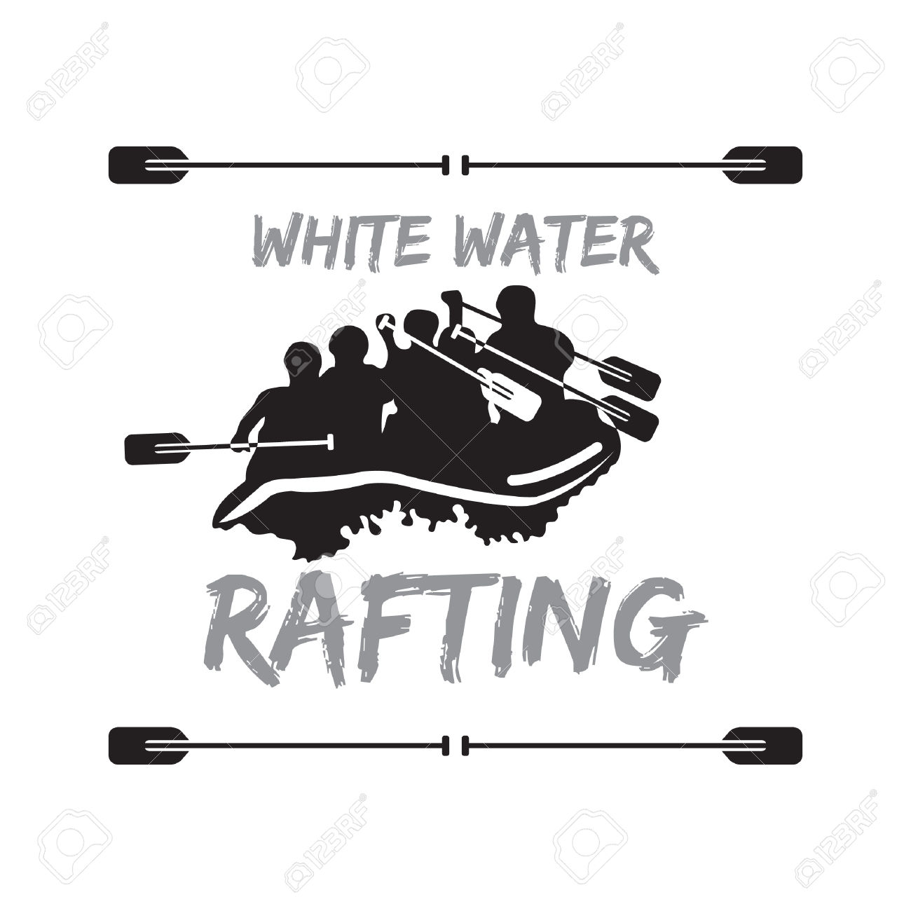 White water logo clipart - ClipartFest royalty free