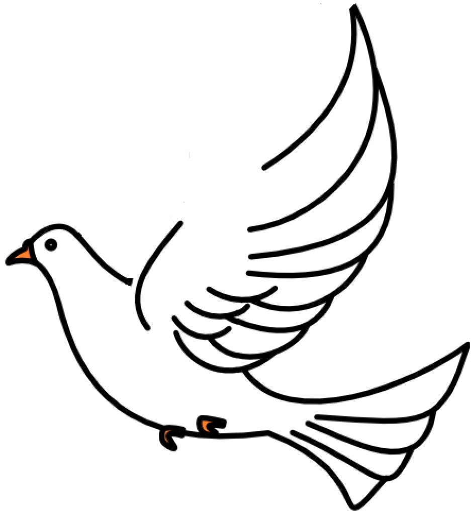 White winged dove clipart black and white clip art royalty free stock White Dove Drawing at PaintingValley.com | Explore ... clip art royalty free stock