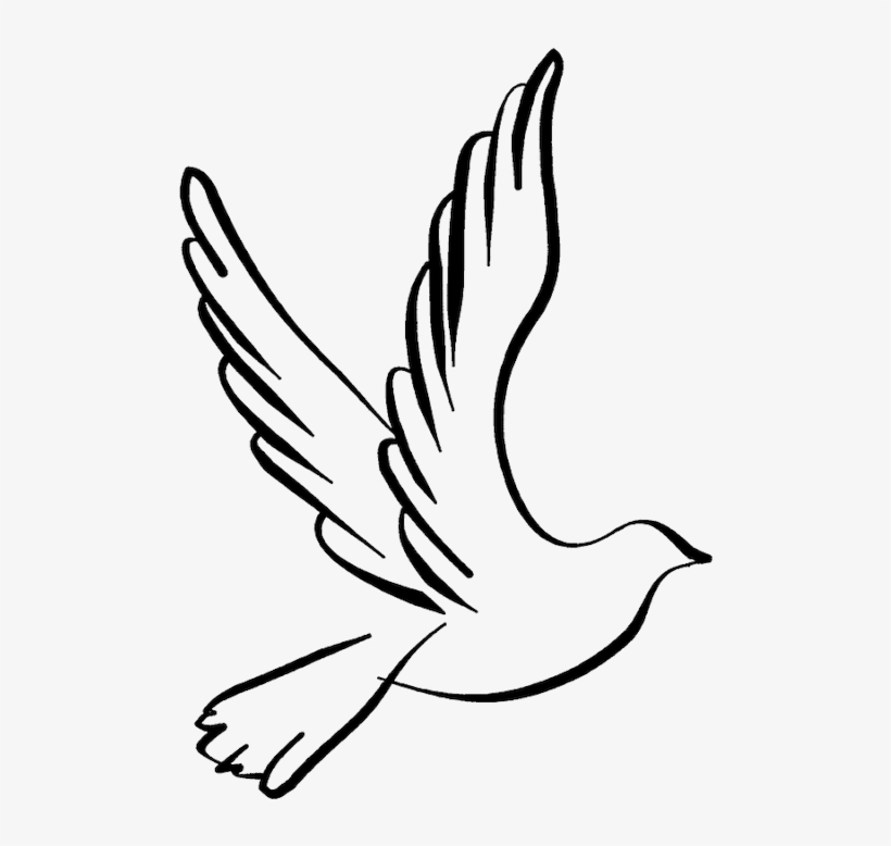 White winged dove clipart black and white png black and white White Dove Clipart Dove Open Wing - Dove Line Drawing - Free ... png black and white