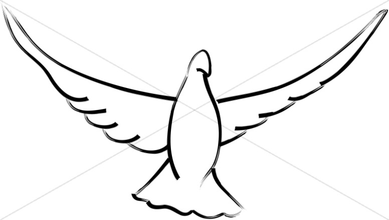 White winged dove clipart black and white svg freeuse Open Wings Dove | Dove Clipart svg freeuse