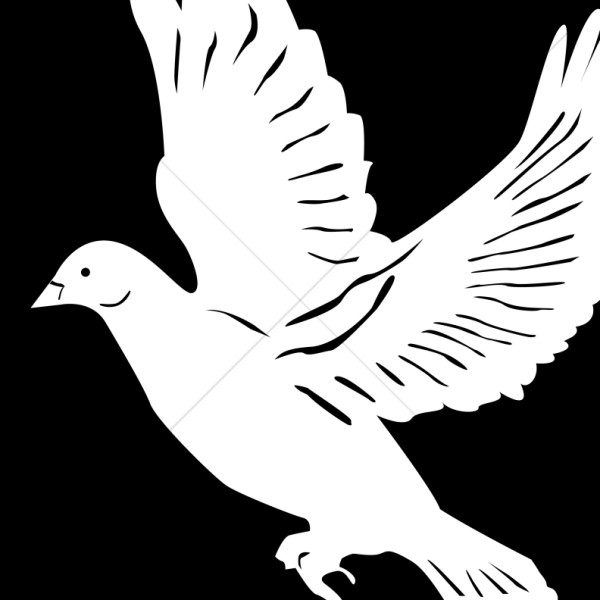 White winged dove clipart black and white clip art stock Winged White Dove Clipart Image | Dove Clipart clip art stock