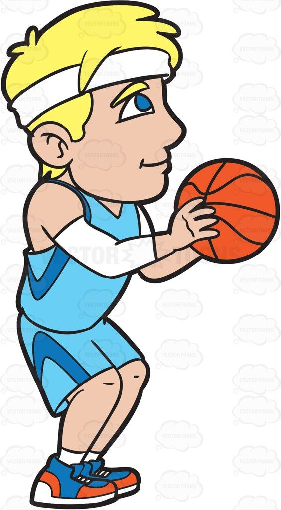 Moms playing throw ball clipart vector freeuse library A Male Basketball Player Shooting A Free Throw #cartoon ... vector freeuse library