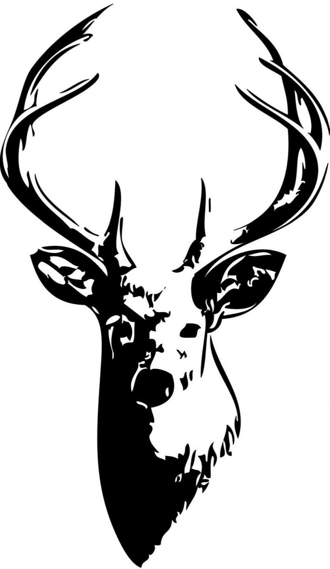 Whitetail deer outline clipart clip black and white Unique Whitetail Deer Silhouette Clip Art Vector Library ... clip black and white