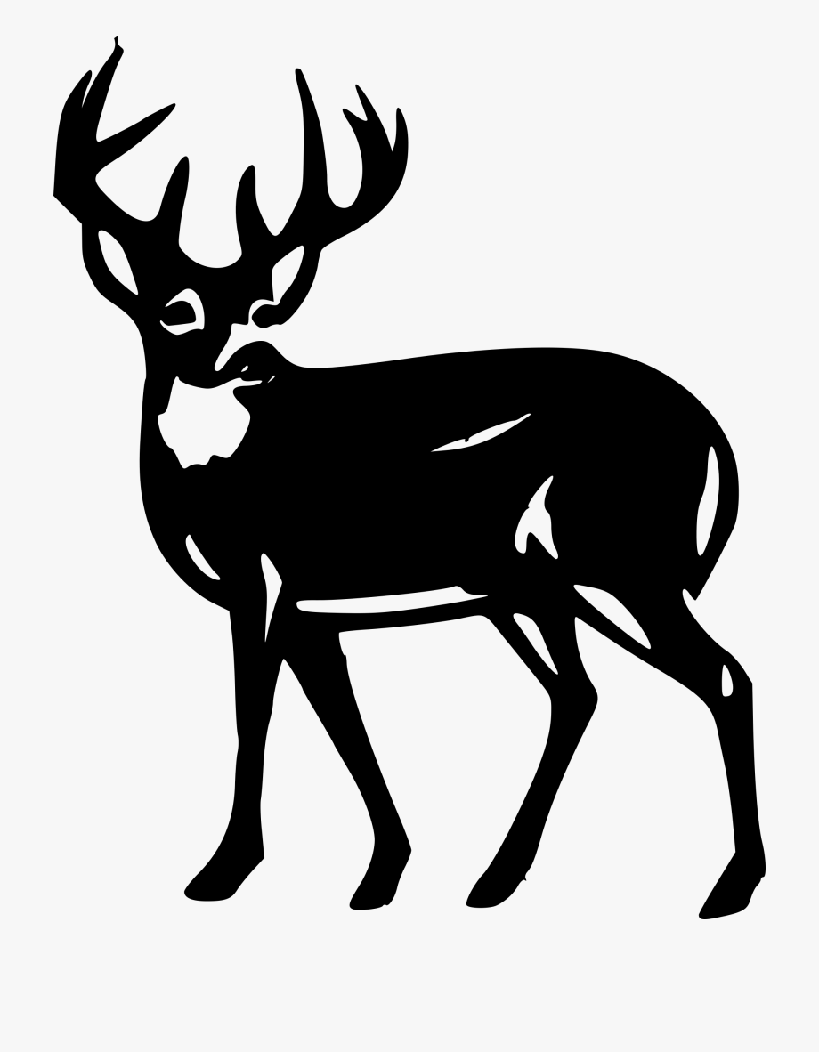 Whitetail deer in woods clipart banner library stock Clipart Deer - White Tailed Deer Silhouette #64275 - Free ... banner library stock