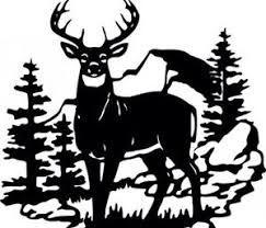 Whitetail deer in woods clipart clip freeuse Image result for black and white whitetail deer clipart ... clip freeuse