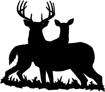 Whitetail deer in woods clipart jpg black and white download Deer hunting is survival hunting or sport hunting for deer ... jpg black and white download