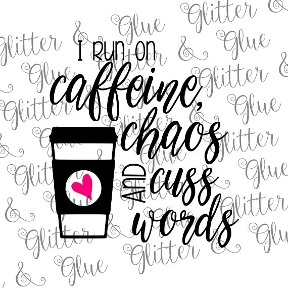 Who accepts clipart banner free stock Caffeine, Chaos and Cuss Words SVG file and clipart. ***You ... banner free stock
