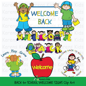 Who accepts clipart clipart transparent download Clip Art BACK TO SCHOOL WELCOME SIGNS (Karen\'s Kids Clip Art) clipart transparent download