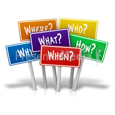 Who what when clipart png free Multiple Signs Questions - Presentation Clipart - Great ... png free