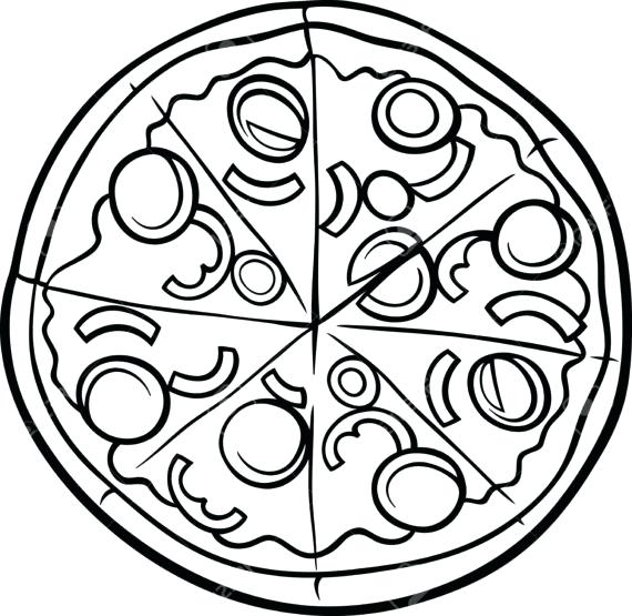 Whole black and white clipart svg royalty free library Whole Pizza Clipart Black And White svg royalty free library
