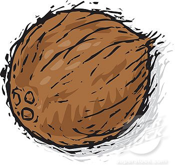 Whole coconut clipart cute clipart free coconut pictures cartoon - Google Search | Birds and Trees ... clipart free