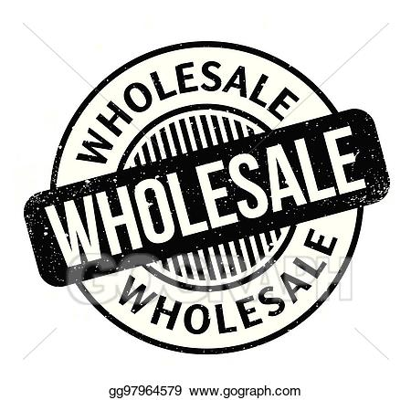 Wholesale clipart clipart freeuse download Vector Clipart - Wholesale rubber stamp. Vector Illustration ... clipart freeuse download