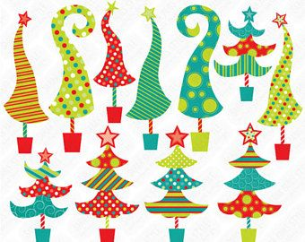Whoville tree clipart graphic free library quirky, whimsical \