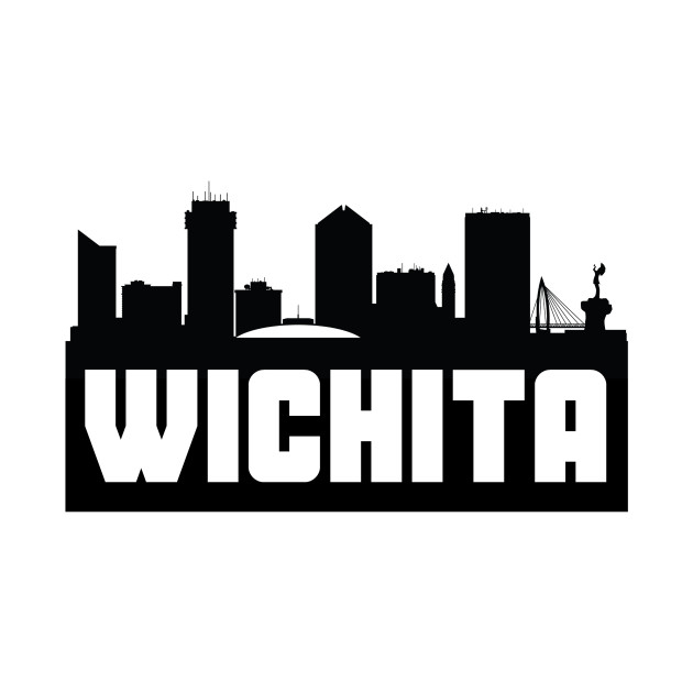 Wichita kansas flag clipart black and white png library download Wichita Kansas Skyline png library download