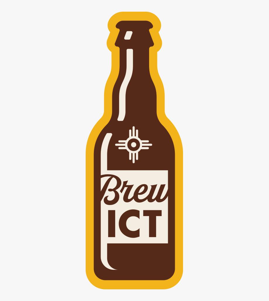 Wichita kansas flag clipart black and white graphic freeuse Sticker Design Of Beer Bottle For Wichita, Kansas Brewing ... graphic freeuse