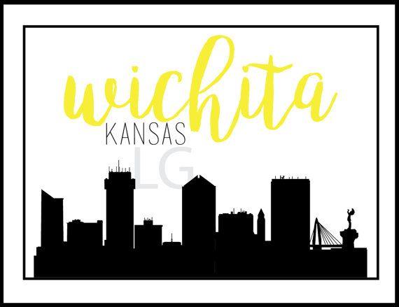 Wichita kansas flag clipart black and white