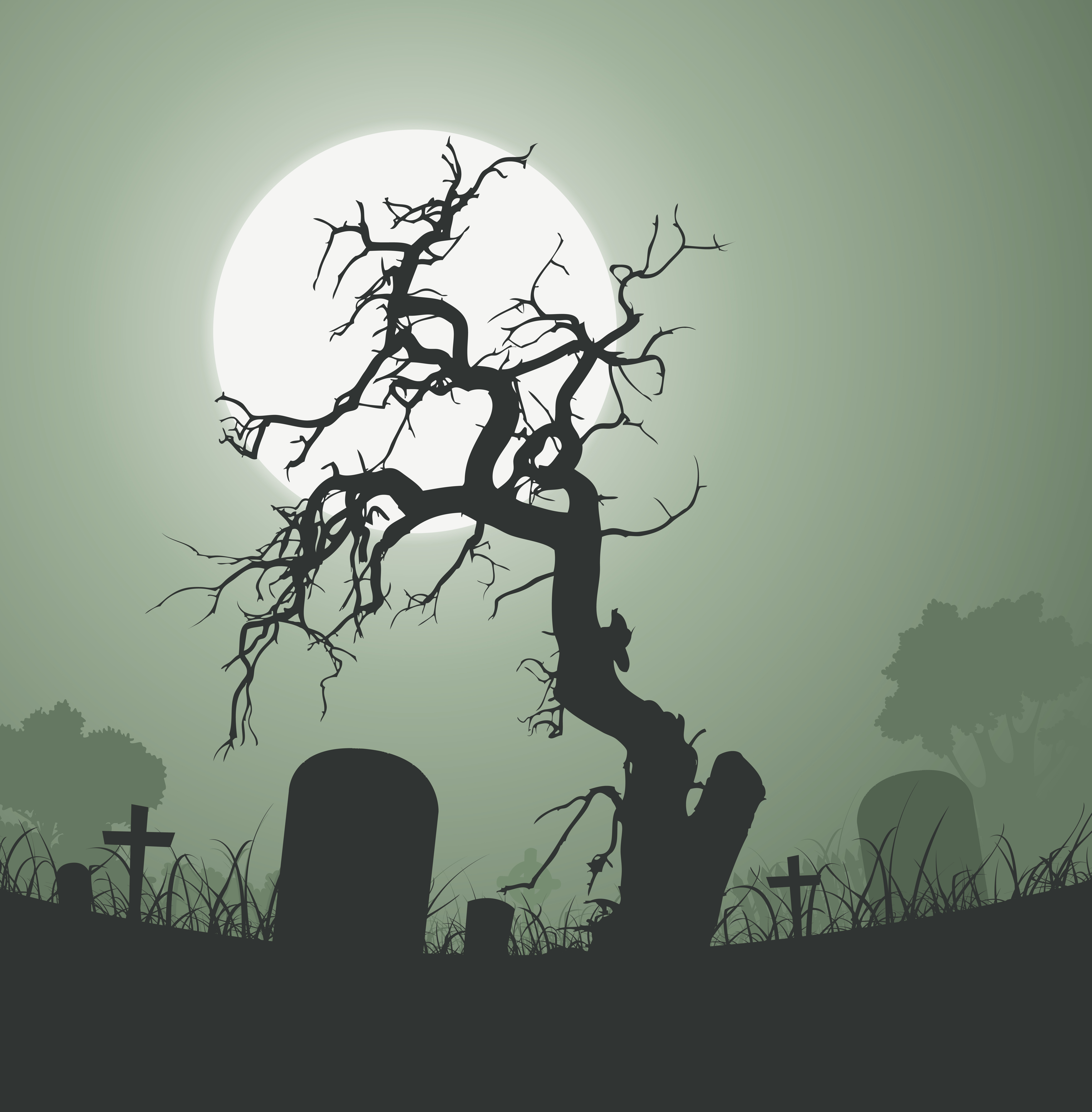 Wicked dead tree clipart svg free download Scary Tree Free Vector Art - (25,185 Free Downloads) svg free download