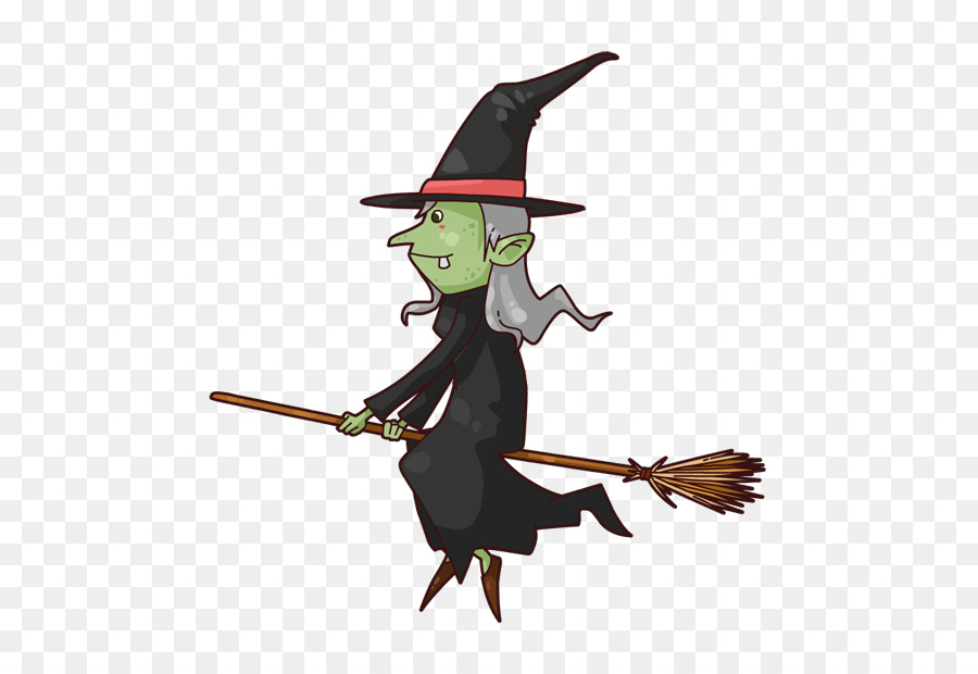 Witches broom and staff clipart