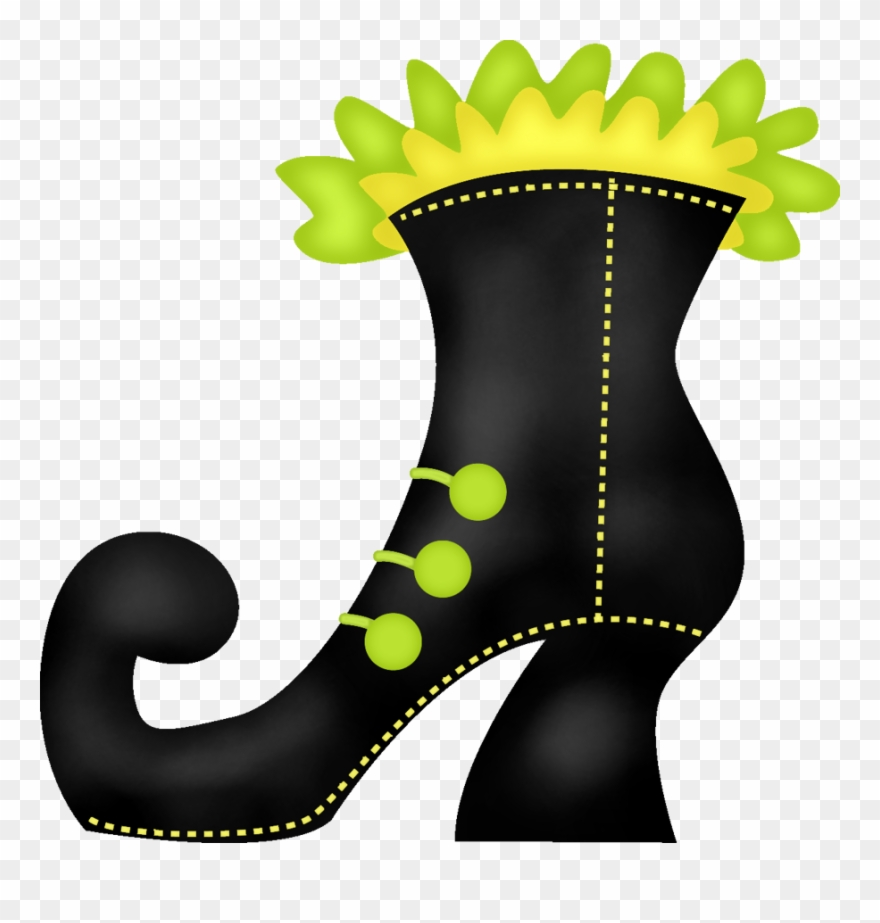 Wicked witch shoe clipart clip black and white library Witch Clipart Boot - Witches Shoe Clip Art - Png Download ... clip black and white library