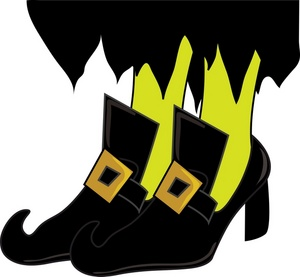 Wicked witch shoe clipart picture black and white library Free Wicked Witch Clipart Image 0515-0910-0915-3447 ... picture black and white library