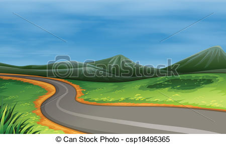 Wide and narrow clipart jpg transparent library Clip Art Vector of A narrow road - Illustration of a narrow road ... jpg transparent library