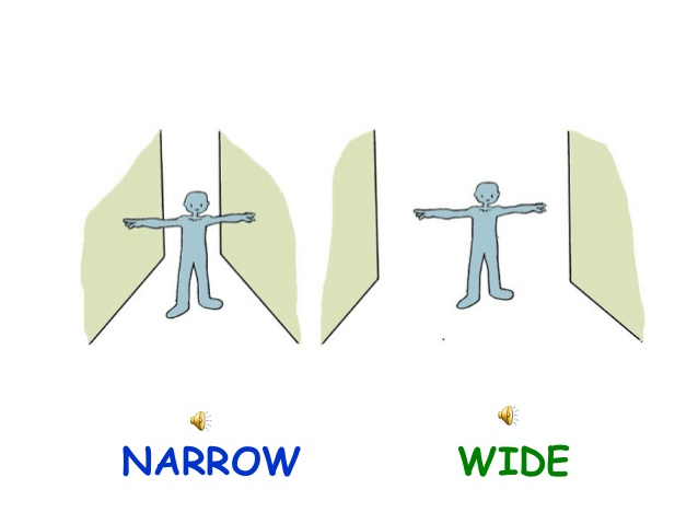 Wide and narrow clipart stock Wide and narrow clipart - ClipartFest stock