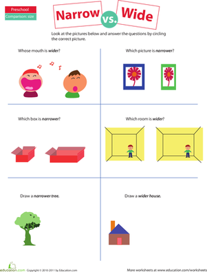 Wide and narrow clipart clipart royalty free library 10+ images about Kinder Measurement on Pinterest | Units of ... clipart royalty free library