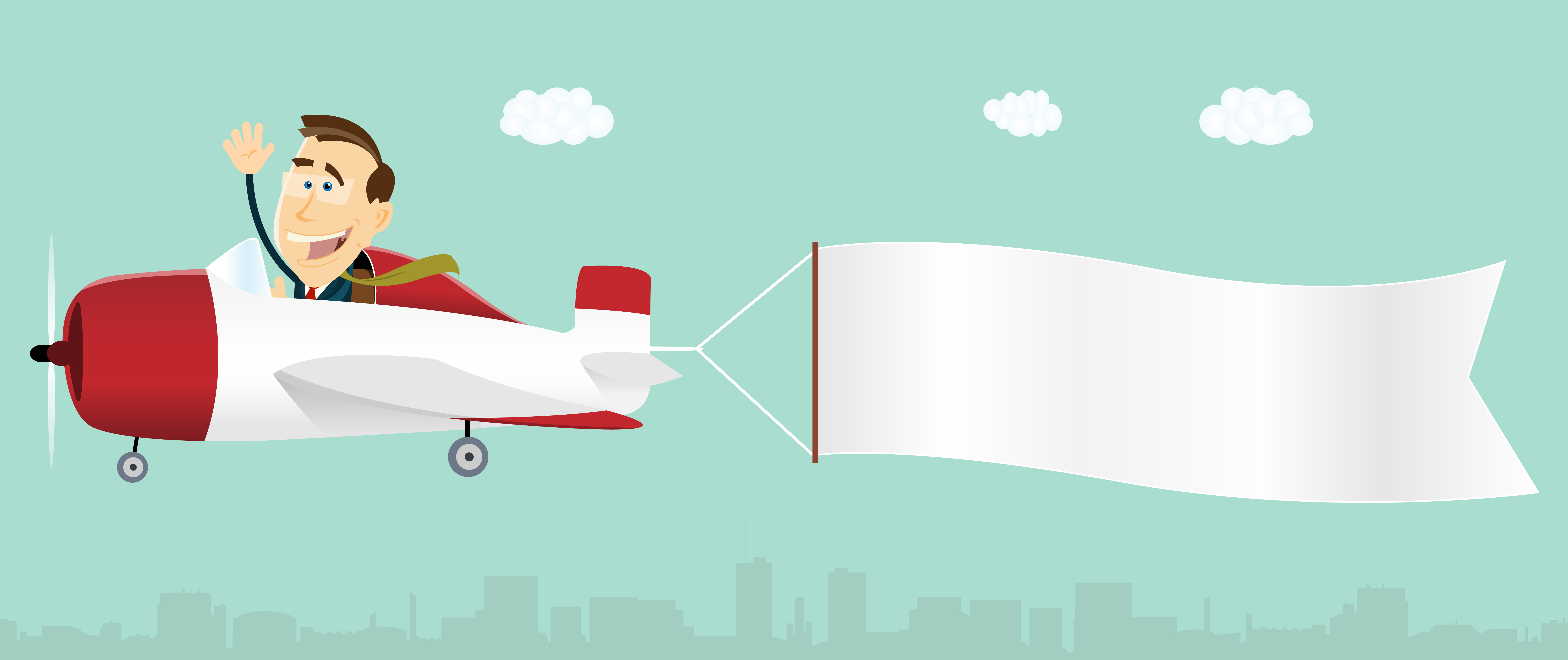 Wide banners clipart plane themes image Airplane Banner Free Vector Art - (32,181 Free Downloads) image