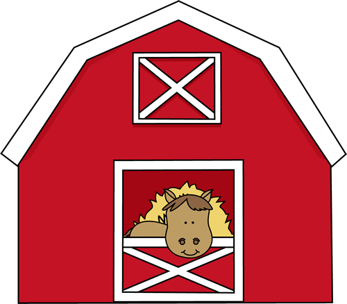 Wide barn clipart png library stock Horse in a Barn Clip Art - Horse in a Barn Image ... png library stock