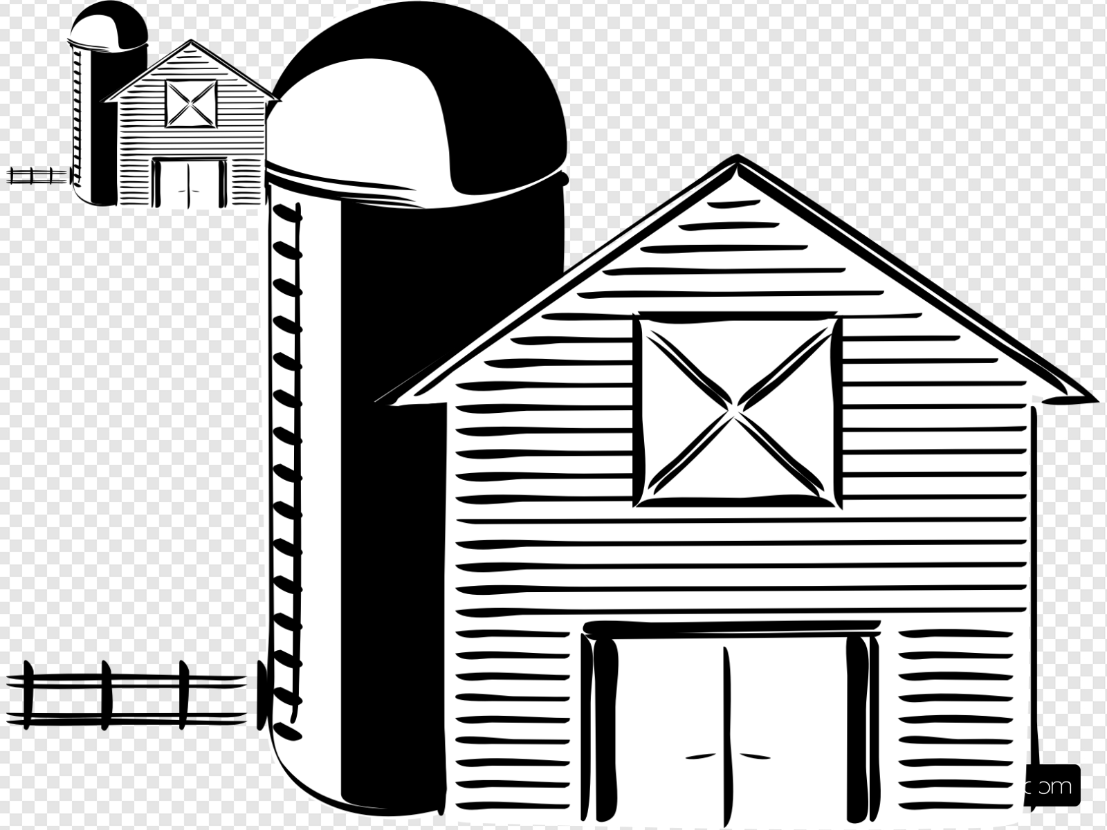 Wide barn clipart clip art library download Barn And Silo Clip art, Icon and SVG - SVG Clipart clip art library download