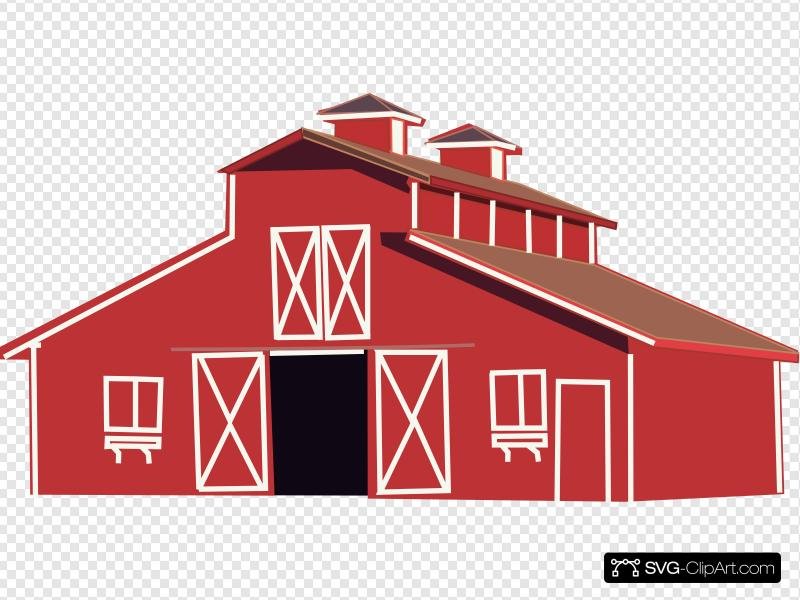 Wide barn clipart svg transparent library Barn And Silo Clip art, Icon and SVG - SVG Clipart svg transparent library