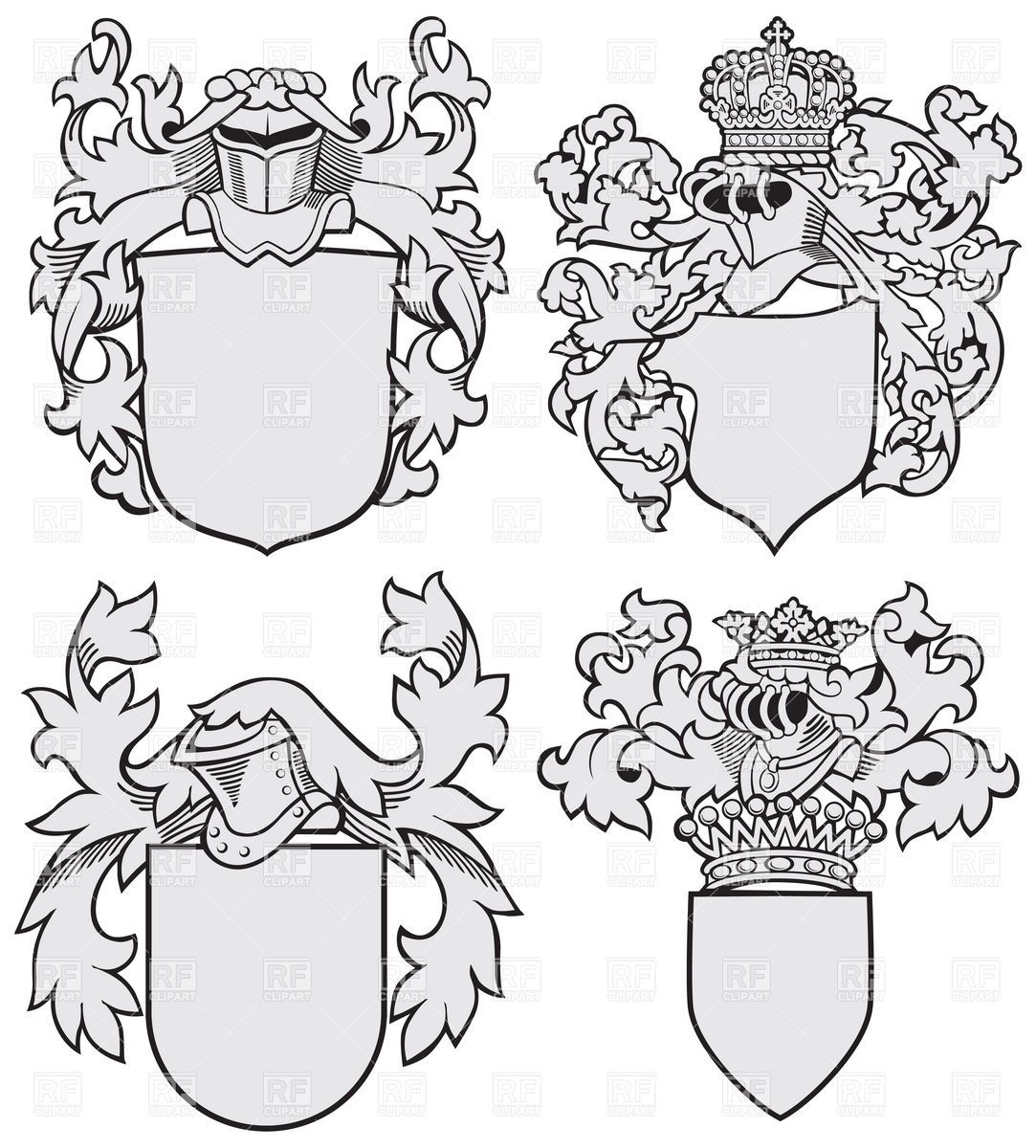 Wide crest clipart blank clip free Coat Of Arms Template Lion | Coat of Arms | Coat of arms ... clip free