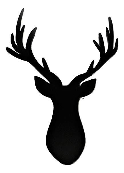 Wide deer antler clipart image black and white Amazon.com: BookishBunny Deer Antler 36\
