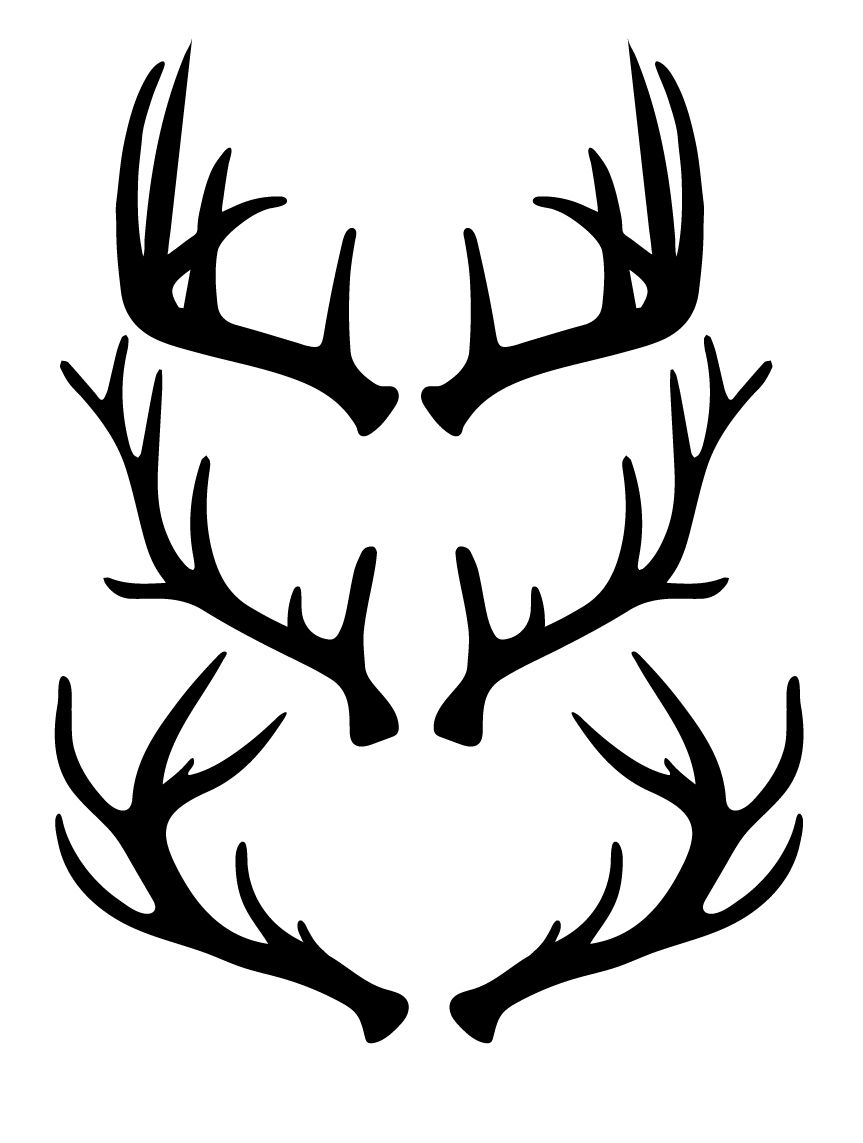 Wide deer antler clipart graphic black and white library Free Antlers SVG Cut Files Free SVG Cut Files   Animals and ... graphic black and white library
