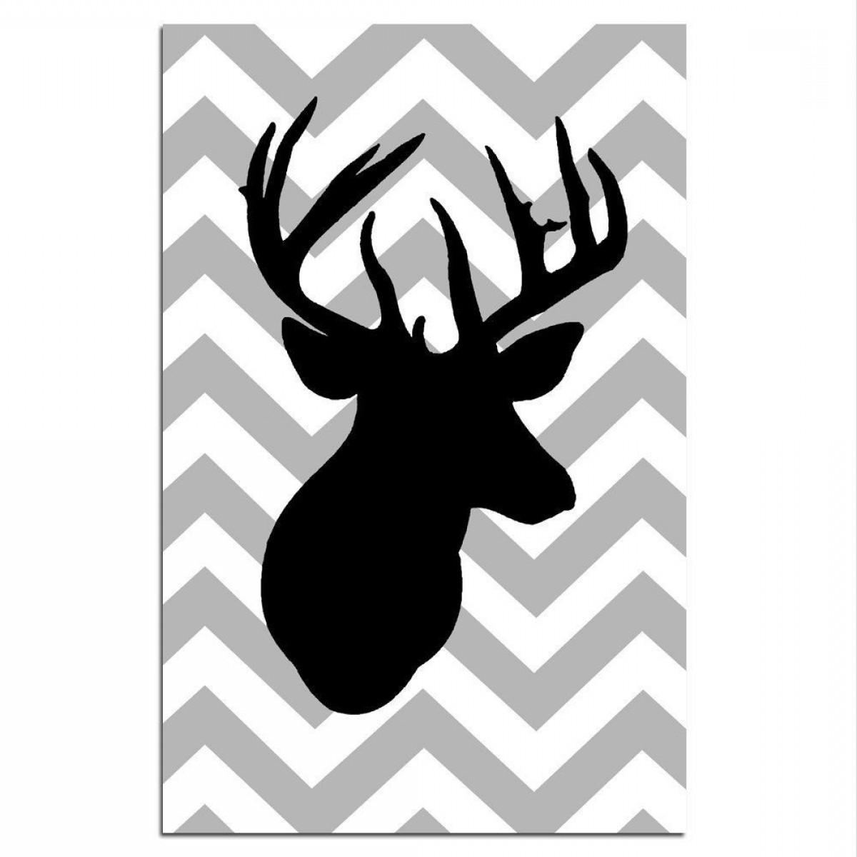 Wide deer antler clipart clipart free library Deer Antler Silhouette Vector Art   SOIDERGI clipart free library