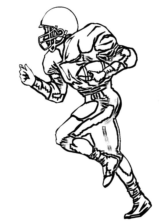Wide recieer player clipart free clipart library Wide Receiver Football Coloring Pages - Football Coloring ... clipart library