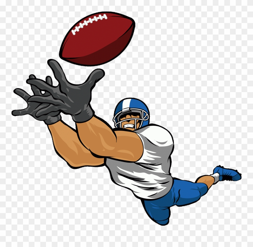 Wide recieer player clipart free png download Cliparts Free Download Clip Art Carwad Net - Football Player ... png download