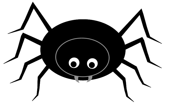 Wide spider clipart clip art library stock Black spider clip art, cute style lge 12 cm wide | This clip ... clip art library stock