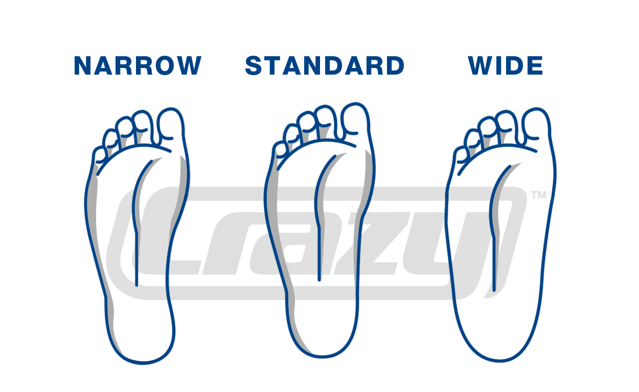 Wide vs thin clipart vector transparent download Perth Skate Shop Shoe Size Chart - Rolloways Leisure Centre vector transparent download