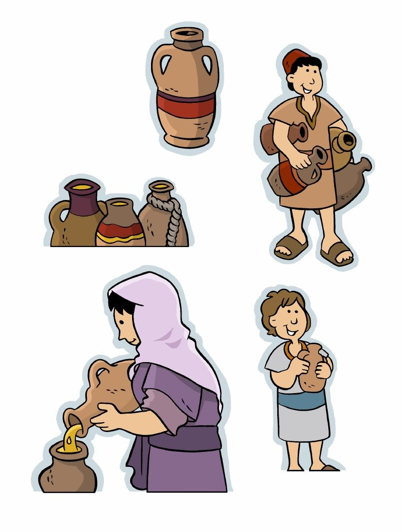 Widows and jesus clipart jpg library library Paper Model-Miracles in the Bible: Increase of the Widow\'s ... jpg library library