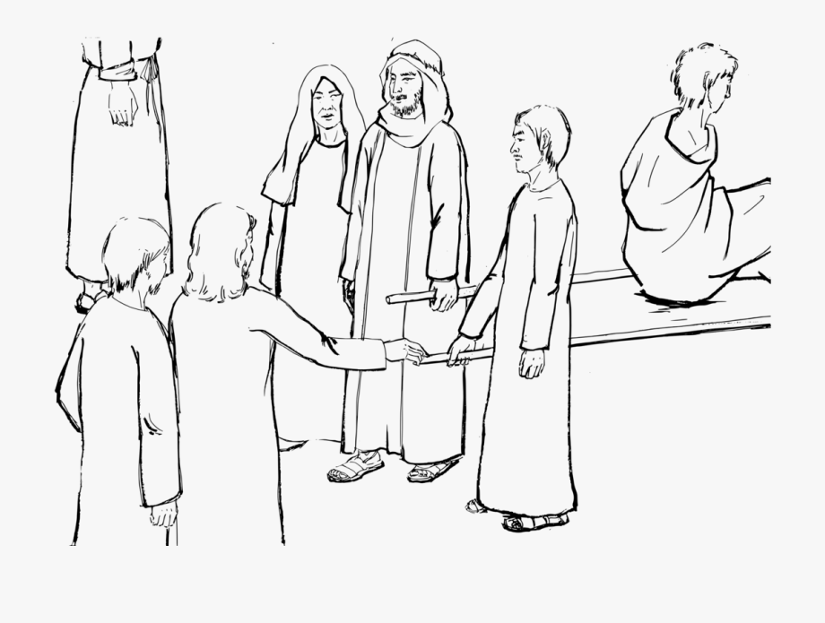 Widows and jesus clipart picture free Nein Gospel Of Luke Coloring Book Colouring Pages Raising ... picture free