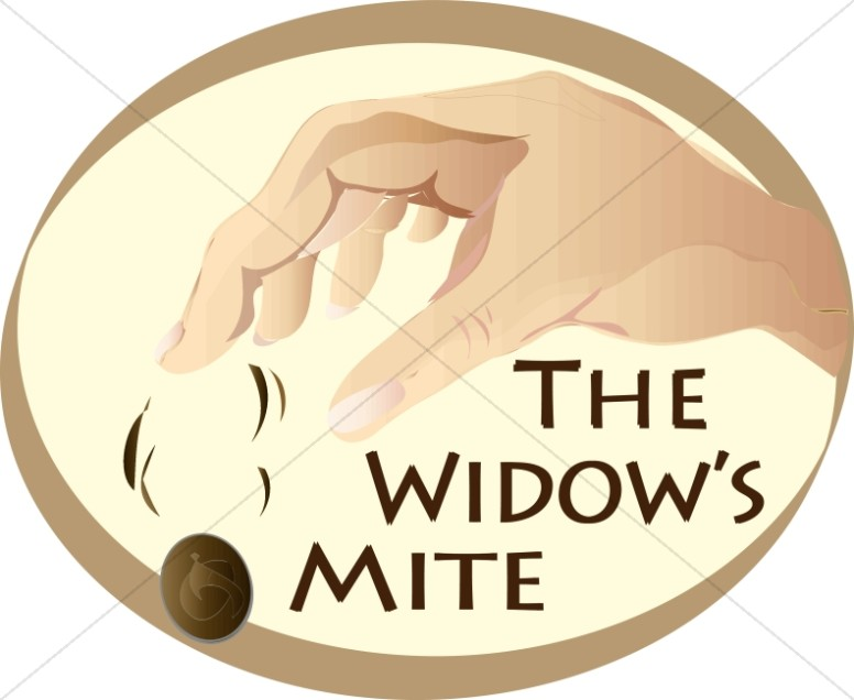 Widows and jesus clipart vector library stock The Widow\'s Mite | New Testament Clipart vector library stock
