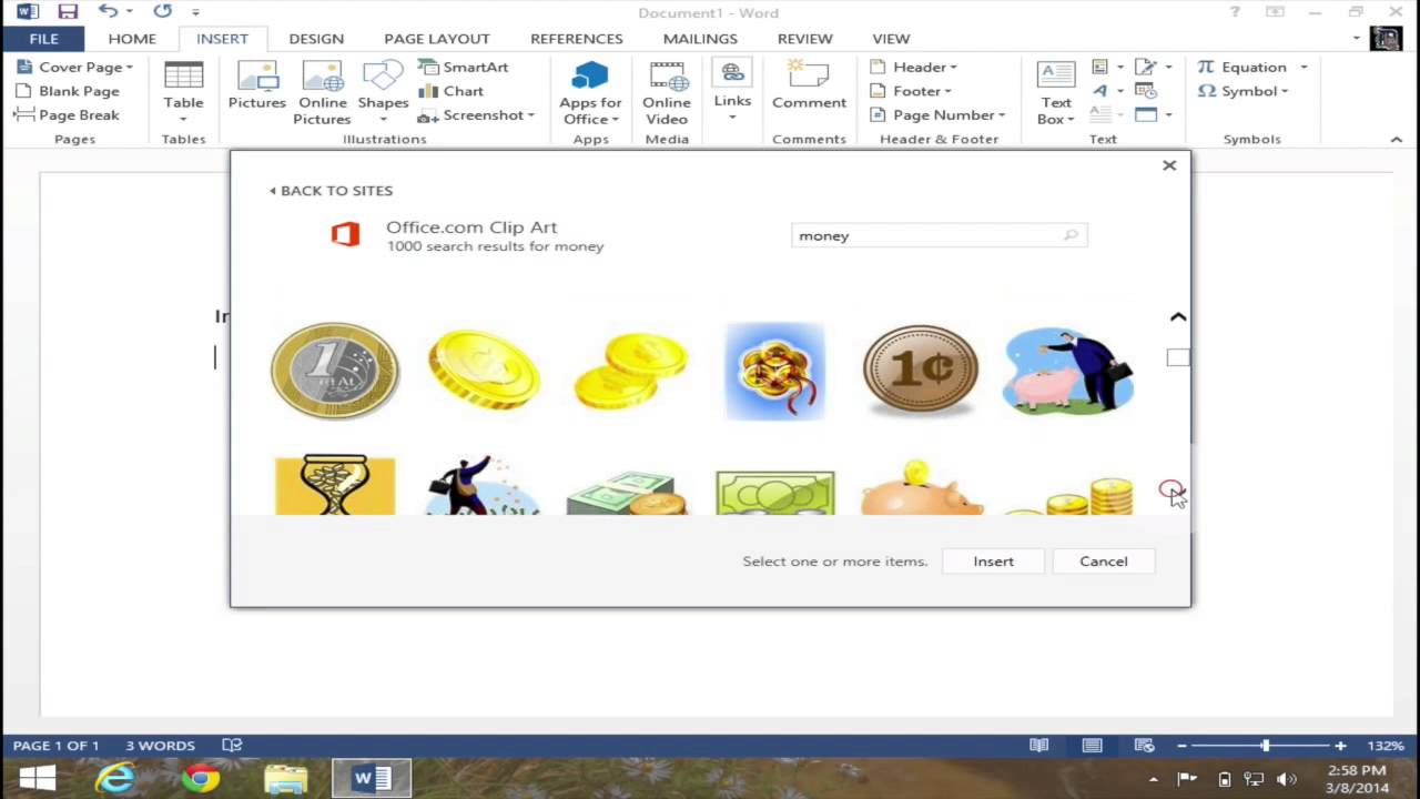 Wie finde ich clipart png freeuse Insert Clip Art in Microsoft Word 2013 - YouTube png freeuse