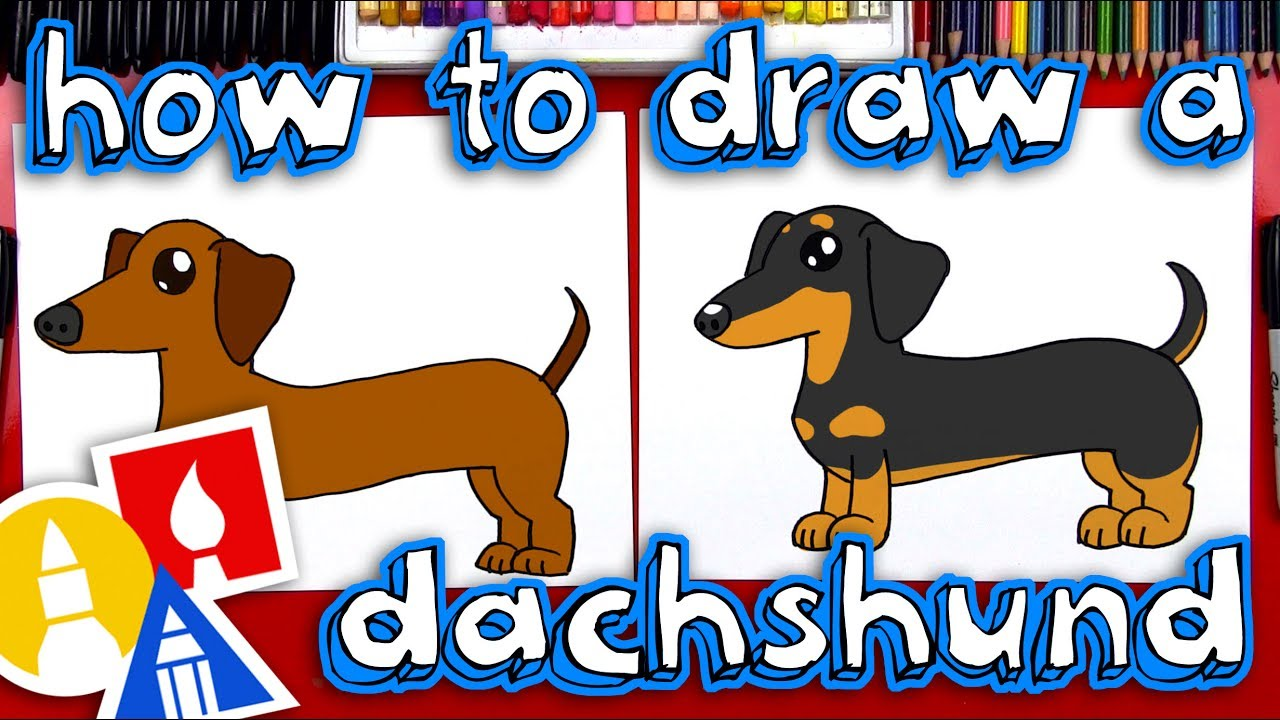Weiner dog clipart smiley face jpg free stock How To Draw A Dachshund jpg free stock