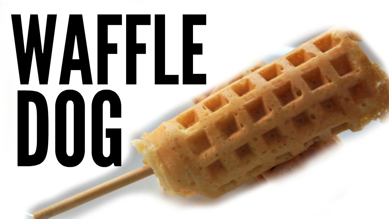 Wieners on a stick clipart vector free stock WAFFLE HOT DOG Recipe - Weenies vector free stock