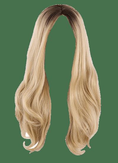 Wig clipart transparent background png transparent download Wig Blond Long transparent PNG - StickPNG png transparent download