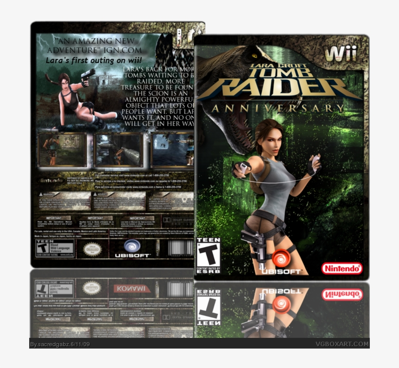Wii clipart covers download picture royalty free Anniversary Box Art Cover - Tomb Raider Anniversary Wii Box ... picture royalty free